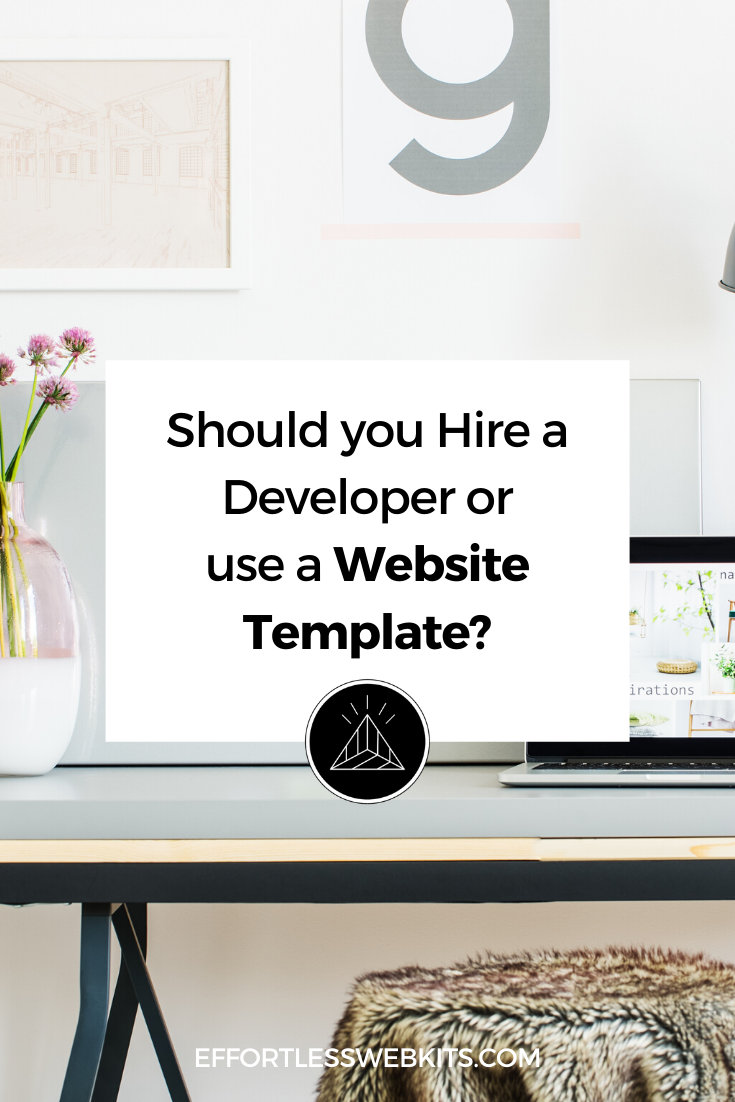 Should you hire a web designer or developer for your business website or use a website template? @hellosammunoz www.samanthamunoz.com #wordpressforbeginners #wordpresstheme #bloggingtips #elegantthemes #websitestrategy
